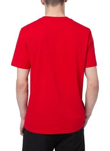 Hugo Boss  % 100 Pamuklu Bisiklet Yaka T Shirt Erkek T Shırt 50448795 693 Kırmızı